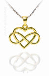 Gold Entwined Heart Pendant from the Infinity Range