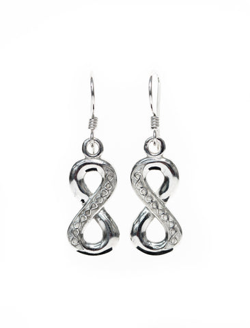 Infinity Jewellery | Parallel Line Infinity Earrings