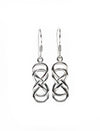 Double Entwined Heart Silver Earrings