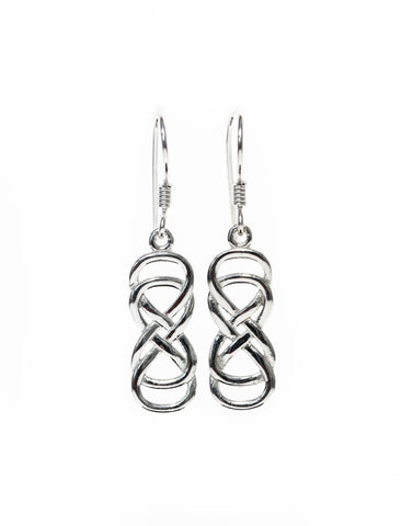 Infinity Jewellery | Double Entwined Infinity Earrings