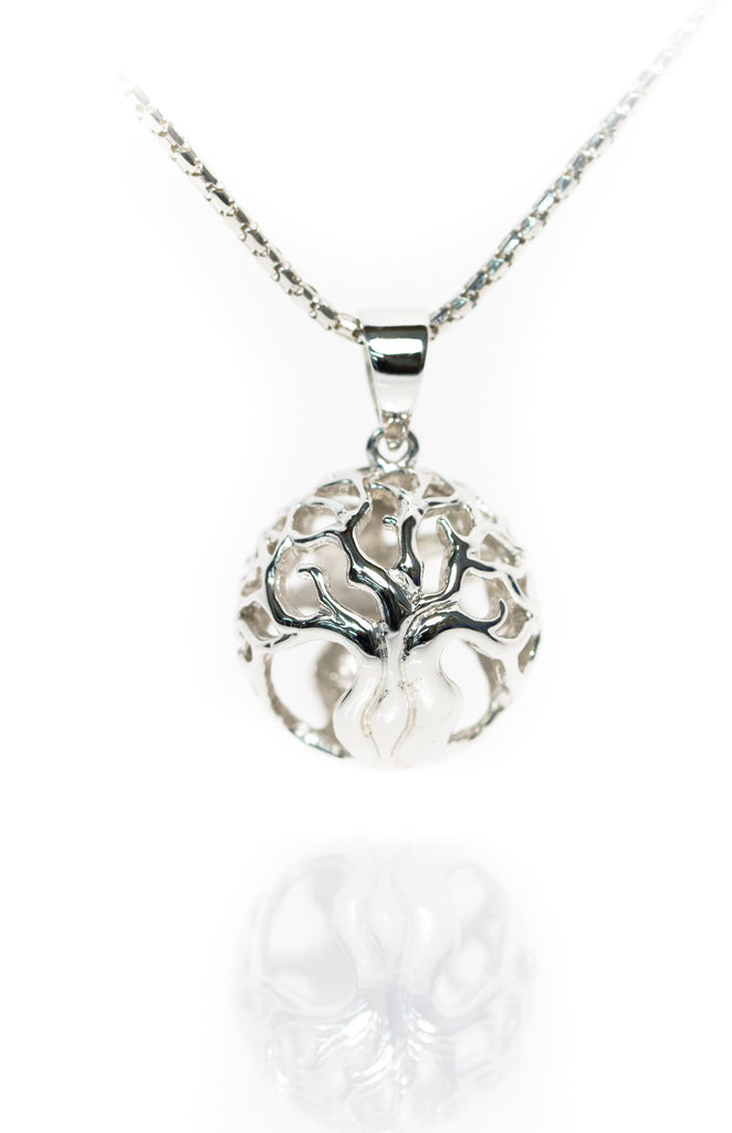 Tree of Life Silver Orb Pendant