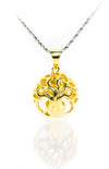 Tree of Life Gold Orb Pendant