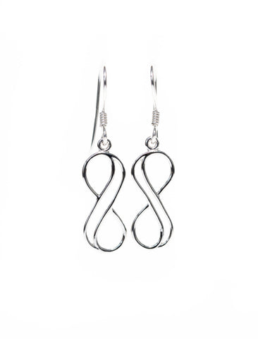 Infinity Jewellery | Double Line Infinity Earrings