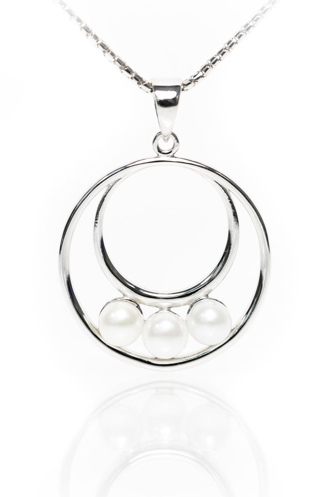 Circle of Life Pendant with Pearls