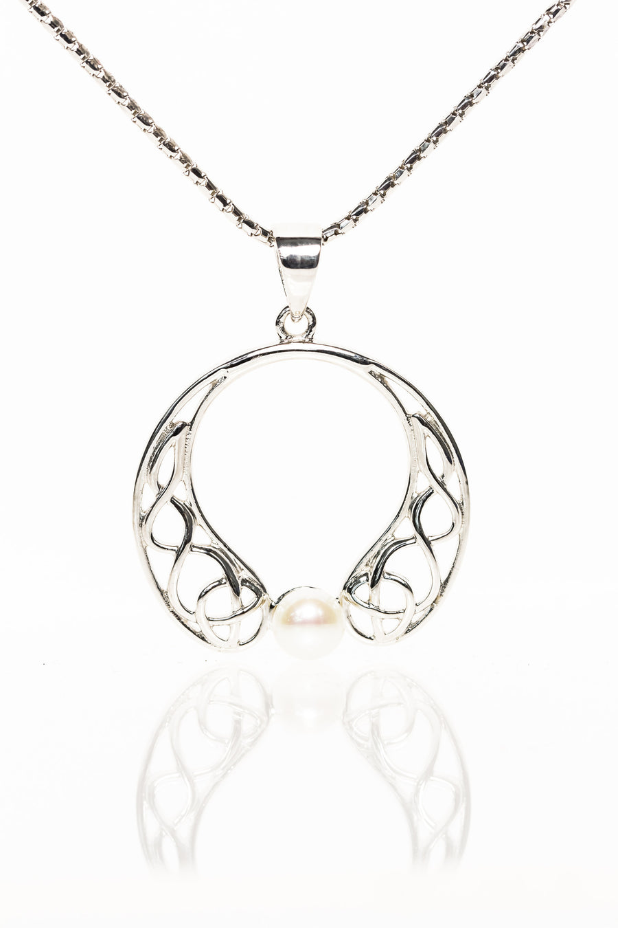 Celtic Pearl Drop Pendant