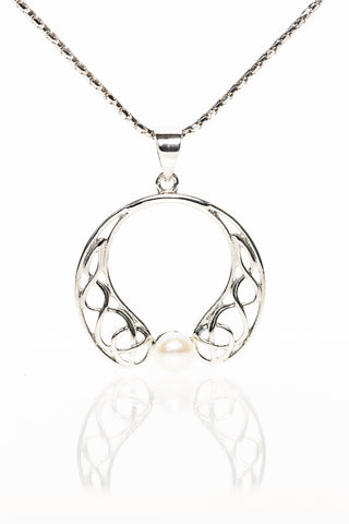 Celtic Jewellery | Pearl Drop Pendant