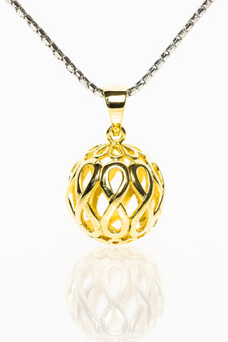 Infinity Jewellery | Gold Plated Infinity Orb Pendant