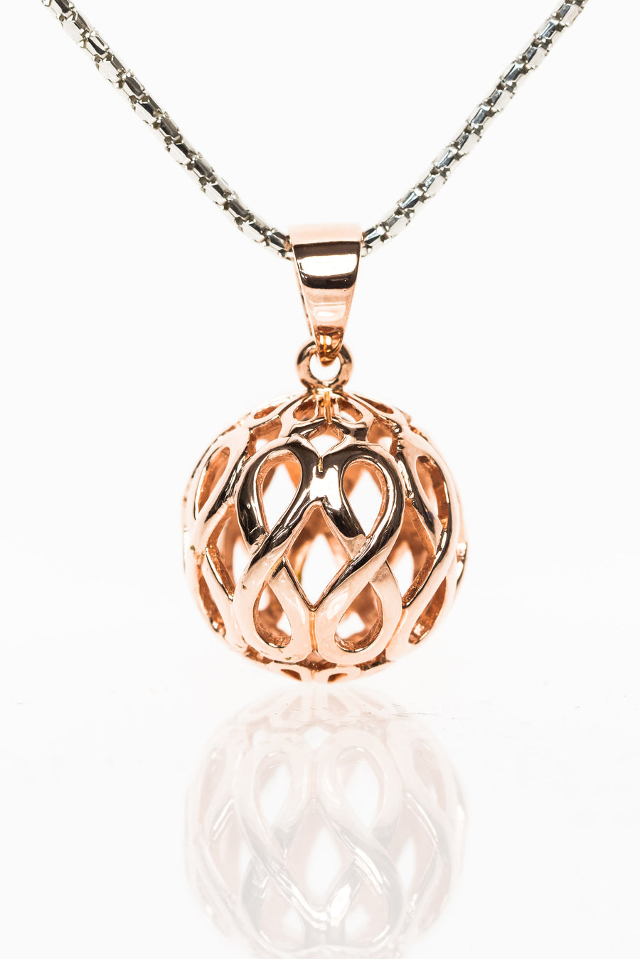 Rose Gold Orb Pendant from Infinity Range