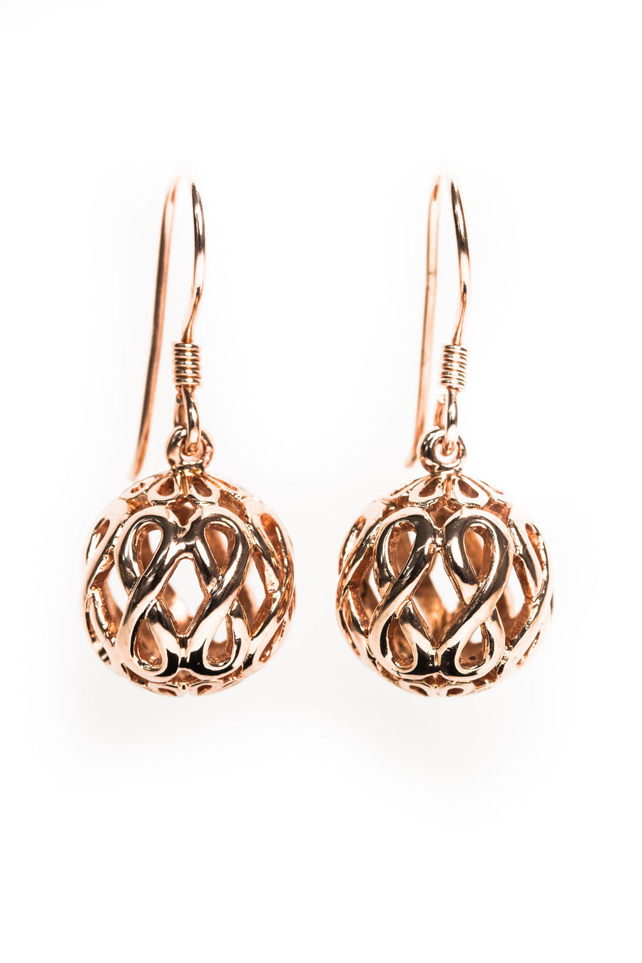 Rose Gold Dop Ball Earrings