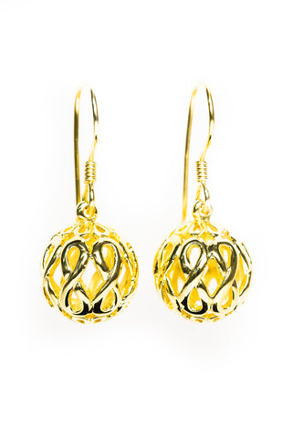 Infinity Jewellery | Gold Plated Infinity Orb Earrings