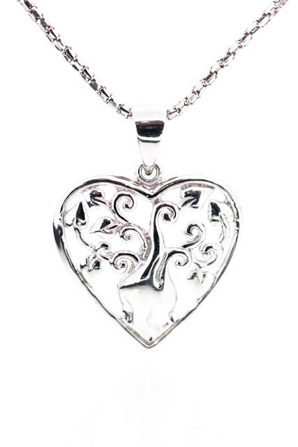 Boab Tree Collection | Stirling Silver Heart Pendant