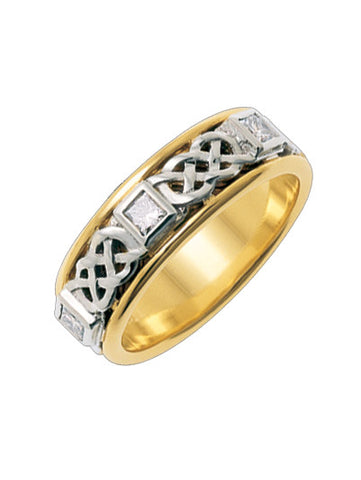Celtic Wedding band | Love from the heart
