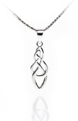 knot silver chain pendant necklace reish white trinity with in gold celtic
