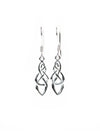 Celtic Endless Knot Drop Earrings