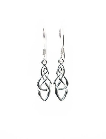 Celtic Jewellery | Endless Knot Drop Earrings