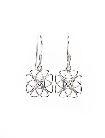 Celtic Jewellery | Trinity Knot Drop Earrings
