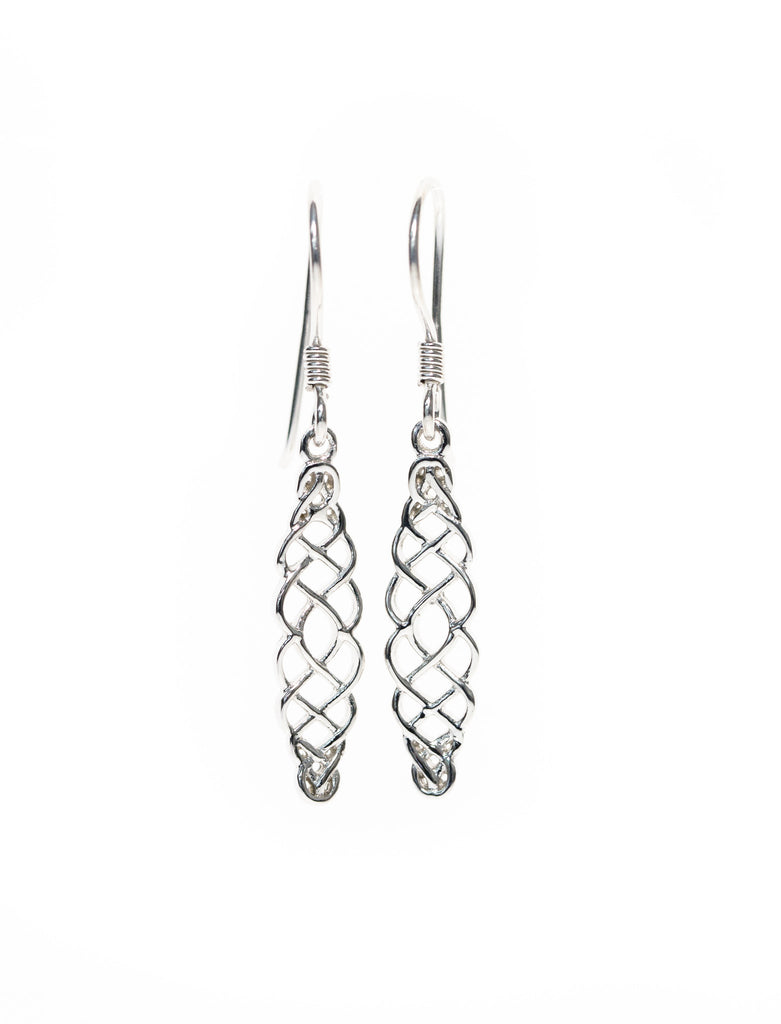 Celtic Harvest Knot Drop Earrings