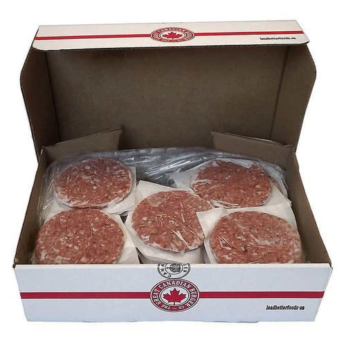 The Great Canadian Burger Co. Frozen Cowboy beef burger patties - 40 pieces
