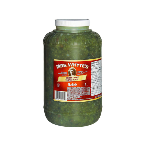 4 L of Mrs. Whyte's sweet green relish
