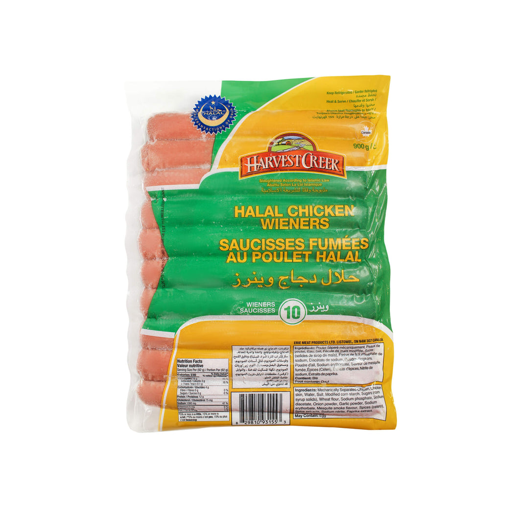10 Harvest Creek halal chicken hot dogs