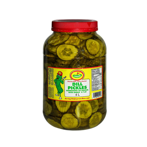 4 L of Lakeside dill pickles