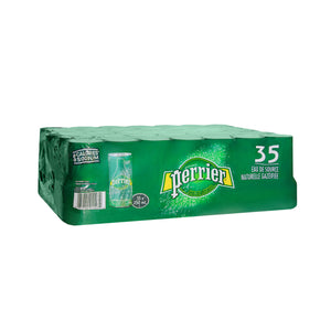 35 pack of Perrier cans