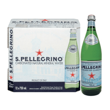 Load image into Gallery viewer, San Pellegrino Carbonated Natural Mineral Water 12 x 750 ml