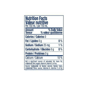 San Pellegrino carbonated natural mineral water nutrition label