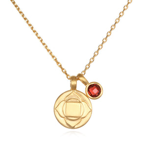 【Satya サティア】 Red Garnet Root Chakra Necklace