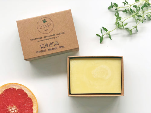 Solid Lotion Bar, citrus