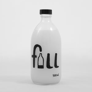 Fill Fabric Conditioner Glass Bottle - 500ml