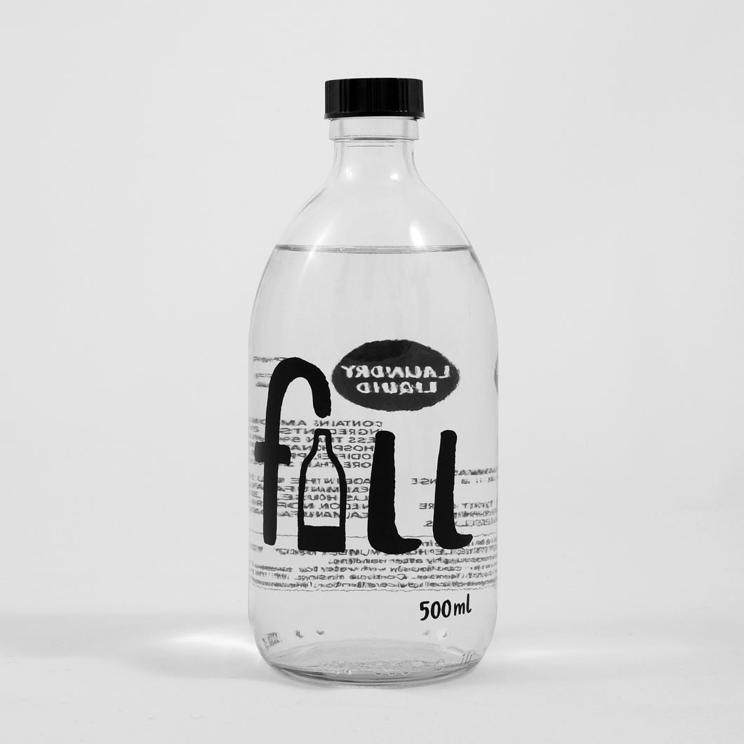Fill Laundry Liquid Glass Bottle Re-fill Only 500ml Neroli