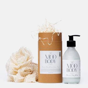 Miracle Body Wash & Rami Shower Pouf