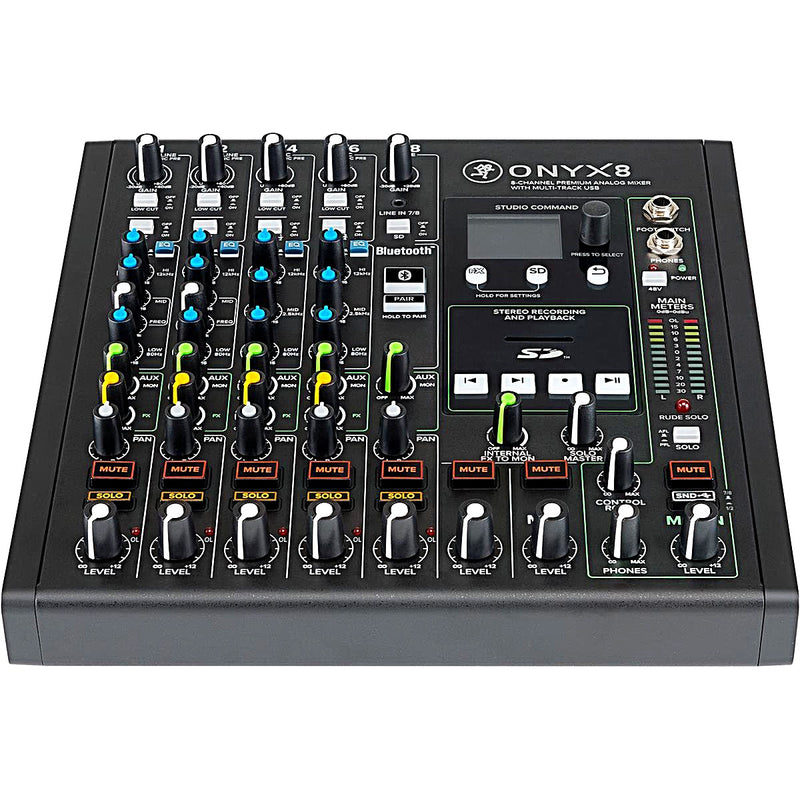 🇺🇸 Mackie Onyx 8 Premium Analog Mixer with Multi-Track USB recording.