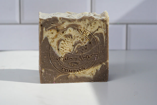 Unscented Coffee Swirl Soap