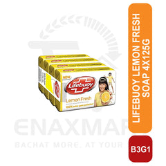Lifebuoy Lemon Fresh Soap 4X125g Buy 3 Get 1 free