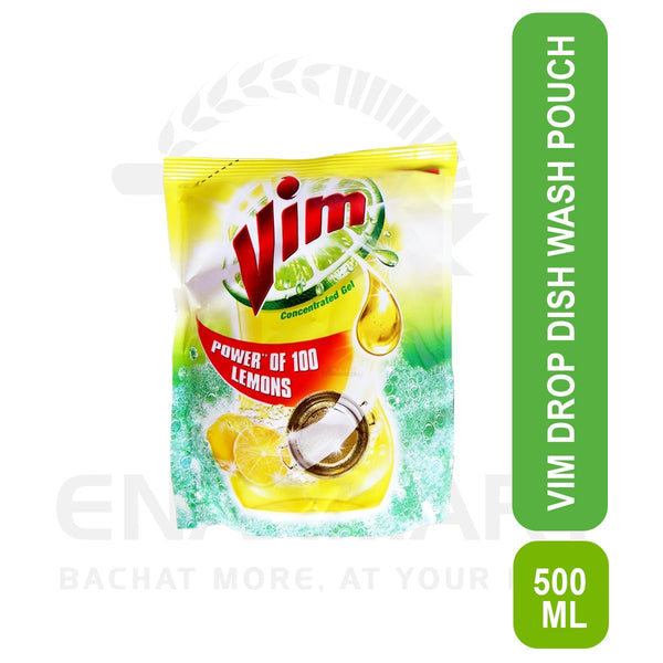 Vim Drop Dish Wash Pouch 500ml
