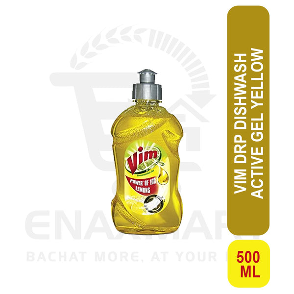 Vim Drop Dish wash Active Gel Yellow 500ml