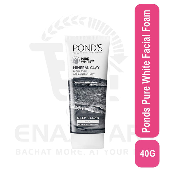 Ponds Pure White mineral clay Facial Foam 40g