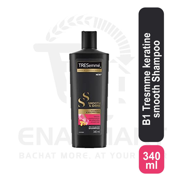 Tresmme keratine smooth Shampoo 340ml Buy 1  & Get 1 Prof Pb F