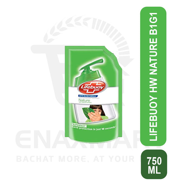Lifebuoy Hand Wash Nature 750ml Buy 1 Get 1 free