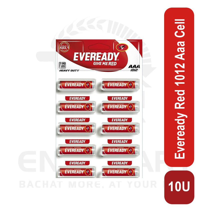 Eveready Red 1012 Aaa Cell 10 U