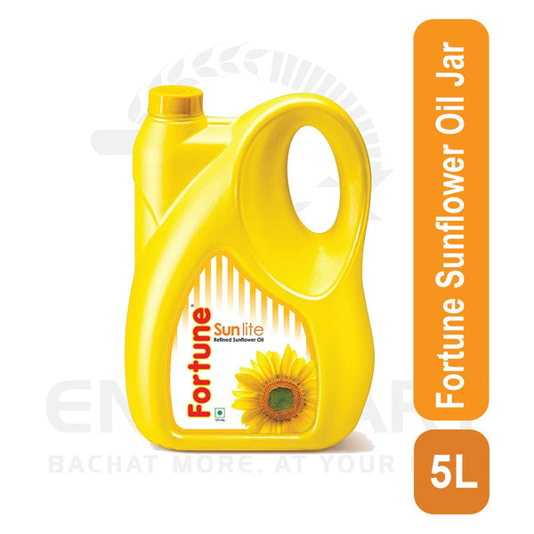 Fortune Sunflower Oil Jar 5 L