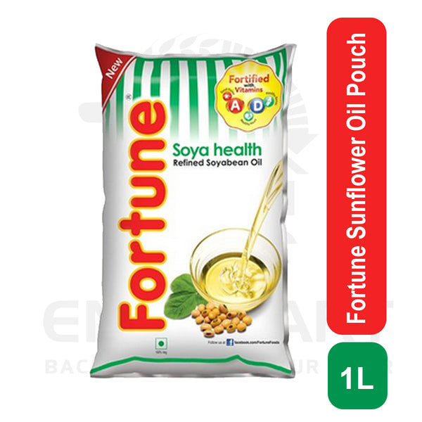Fortune Sunflower Oil Pouch 1 L