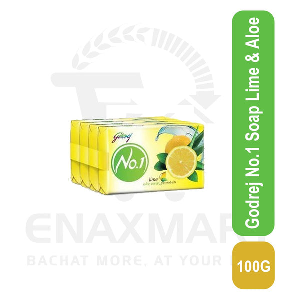 Godrej No.1 Soap Lime & Aloe 4 X 100 G