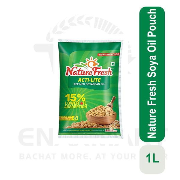 Nature Fresh Soya Oil Pouch 1 L