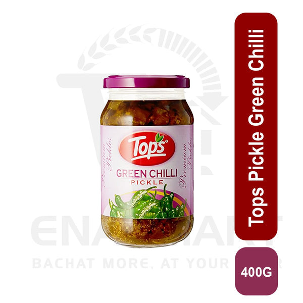 Tops Pickle Green Chilli 400 G