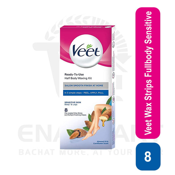 Veet Wax Strips Fullbody Sensitive 8U