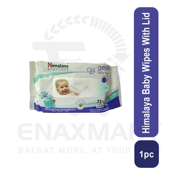 Himalaya Baby Wipes With Lid 72wipes