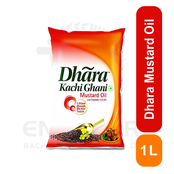 Dhara Mustard Oil Pouch 1 Litre